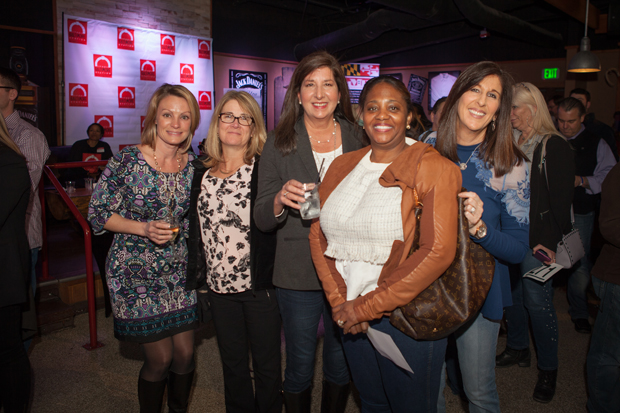 From left, Maureen Ames, key account manager with Par Pharmaceutical; Paula Kowalewski, nurse practitioner with Greater Baltimore Medical Center/Gilchrist; Patrice Mezzanotte, account executive at PCA; Kendra Brown; and Nancy Gray, owner of Tie It All Together, were all smiles at The Baltimore Station's 26th annual Homerun for Recovery fundraiser.