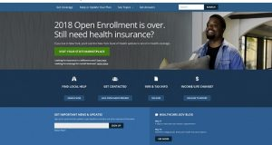 "This screen grab shows the main page of the healthcare.gov website in Washington, on Monday, May 21, 2018. A major government survey finds that the U.S. clung to its health insurance gains last year, a surprise after President Donald Trump's repeated attempts to dismantle ""Obamacare."" The survey from the Centers for Disease Control and Prevention is out May 22, and finds that 9.1 percent of Americans were uninsured in 2017, or a little more than 29 million people. (HealthCare.gov via AP)"