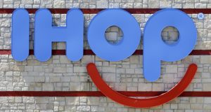 "IHOP, which teased a name change to IHOb earlier this month, says the ""b"" is to promote its burger menu and is staying ""for the time being."" (AP Photo/Alan Diaz, File)"