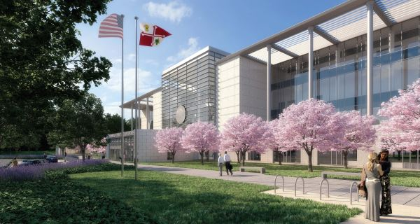 A rendering of Edgemoor-Star America Judicial Partners proposed new Howard County Circuit Courthouse. (Renderings Courtesy Howard County).