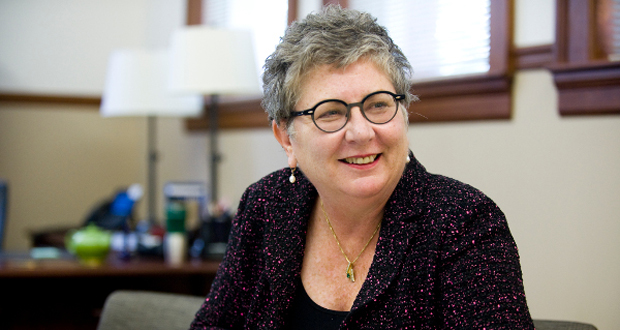 """""""We don't really know what's gone on in people's lives over the past three or four months or what's going on with them in the next three to four months,"""" Schatzel said. """"But, they could've had family members laid off or they could be dealing with illness within the household itself,"""" says Towson University President Kim Schatzel."""
