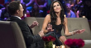 "Host Chris Harrison and bachelorette Becca Kufrin on ABC's ""The Bachelorette."" The Republican Governors Association is airing ads against Maryland Democratic gubernatorial nominee Ben Jealous on the program and on others that appeal to women viewers. (ABC/Paul Hebert)"