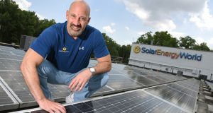 7-12-18  Elkrigde, MD- Geoff Mirkin, VP of Solar Energy World at their headquarters in Elkridge, MD. Photo by Maximilian Franz.