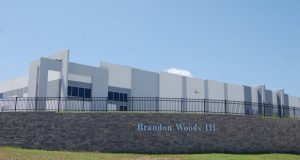 Best Buy has agreed to lease 500,400 square feet of warehouse distribution space at Brandon Woods III in Anne Arundel County.  (Rendering Courtesy Chesapeake Real Estate Group)