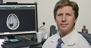 Principal investigato Dr. Graeme F. Woodworth,, professor of neurosurgery at UMSOM and director of the Brain Tumor Treatment and Research Center at the University of Maryland Marlene and Stewart Greenebaum Comprehensive Cancer Center at UMMC. (Courtesy UMMC)