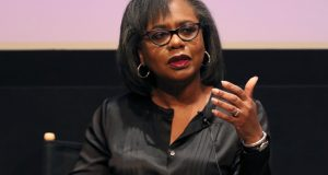 Anita Hill speaks at a discussion about sexual harassment in Beverly Hills, Calif., in December. The sexual assault allegations against Supreme Court nominee Brett Kavanaugh recall Hill's accusations against Clarence Thomas in 1991, but there are important differences as well as cautions for senators considering how to deal with the allegations. (Willy Sanjuan/Invision/AP file photo)