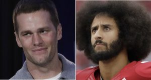 Tom Brady and Colin Kaepernick (AP File Photos)