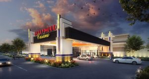 A rendering of the proposed Hollywood Casino York in Springettsbury Township in York County, Pennsylvania. (Submitted rendering)