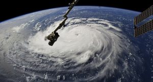 This photo provided by NASA shows Hurricane Florence from the International Space Station on Monday, Sept. 10, 2018, as it threatens the U.S. East Coast. Forecasters said Florence could become an extremely dangerous major hurricane sometime Monday and remain that way for days. (NASA via AP)