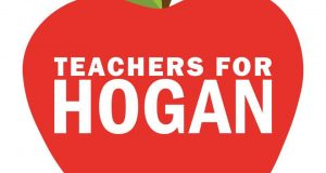 This logo used by the campaign of Gov. Larry Hogan is the subject of a lawsuit by the largest teacher's union in Maryland.