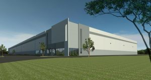 Artist's rendering of 102 and 103 Fulfillment Drive, a two-building site consisting of 350,000 square feet of warehouse/industrial space on a speculative basis within the Trimble Road Business Park in Edgewood. (Photo courtesy of Chesapeake Real Estate Group LLC)