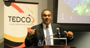 COLLEGE PARK -- UMBC President Freeman Hrabowski gives the morning keynote address at the annual TEDCO Entrepreneur Expo and Stem Cell Symposium.