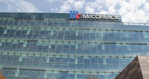 McCormick & Co. touted its new global headquarters at 24 Schilling Road in Hunt Valley as fostering a high-tech collaborative environment. Previously the firms employees were scattered in four buildings in the area.  (The Daily Record/Adam Bednar)