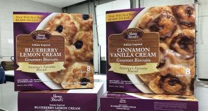 Cinnamon vanilla cream and blueberry lemon cream biscuits from Mama Biscuit's Gourmet Biscuits are be available in 55 Walmart stores in nine states, Walmart announced Tuesday. (Submitted Photo)