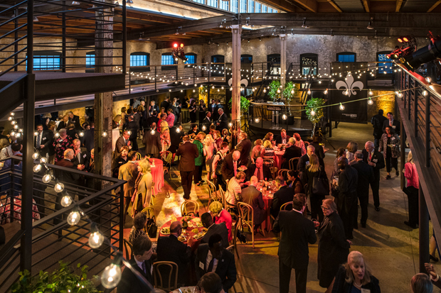A beautiful evening welcomed guests to the Winslow-Parker Metal Building in Baltimore for the United Way of Central Maryland's Tocqueville Society's annual event. (Photo courtesy of United Way of Central Md.)