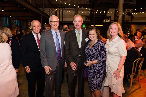 From left, Jim Brinkley, Doug Brinkley, Wally Pinkard, Mary-Ann Pinkard and Ellen Brinkley were on hand at The Winslow – Parker Metal Building for United Way of Central Maryland's Tocqueville Society Annual Event. (Photo courtesy of United Way of Central Md.)