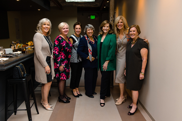 From left, Marianne Mattran, Carole Miller, Liz Ferrugia, Lois Shofer, Patricia J. Mitchell, Melanie Sabelhaus, and Mary Louise Preis enjoy the evening during United Way of Central Maryland's Tocqueville Society Annual Event. (Photo courtesy of United Way of Central Md.)