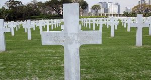 This 2011 photo provided by Ted Darcy, shows the unknown soldier grave site of Richard Murphy at the Manila American Cemetery at suburban Taguig city, east of Manila, Philippines.  The body of the former journalist and U.S. Marine spent decades in this unknown soldier grave.  The efforts of a volunteer researcher prompted the military to exhume the body for further testing in Hawaii. Now Murphy's remains are expected to be brought to the Washington area in late November to be buried alongside his mother and other relatives in a family plot in Silver Spring, MD.  (Ted Darcy via AP)