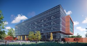 Regenexbio Inc. will be the anchor tenant at the newest building athe Alexandria Life Science and Translational Research Center 9800 Medical Center Drive in Rockville (Courtesy of Alexandria Real Estate Equities Inc.)