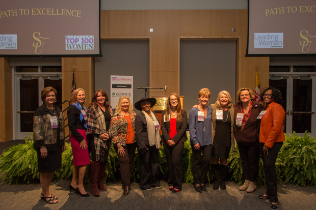 Top 100 and Leading Women honorees gather for a group photo at the Eastern Shore Path to Excellence networking event Nov. 7 at Salisbury University. (Photo by Kathleen Kaste)