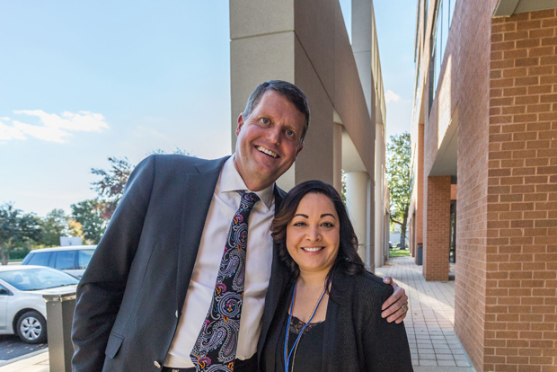 Creig Northrop, president and CEO of Northrop Realty, poses for a photo with Maya Nadeem, the company's chief operating officer, during the grand opening of the company's newest office in Annapolis. (Photo courtesy of Northrop Realty)