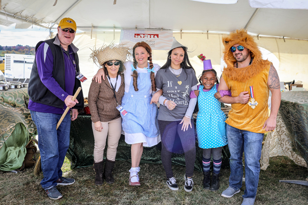 "The Maryland Multi-Housing Association and Zeffert and Gold Catering and Event Planning successfully defended their ""Best Chili"" title at this year's event with a ""Wizard of Oz""-themed booth. (Photo courtesy of The Baltimore Station)"