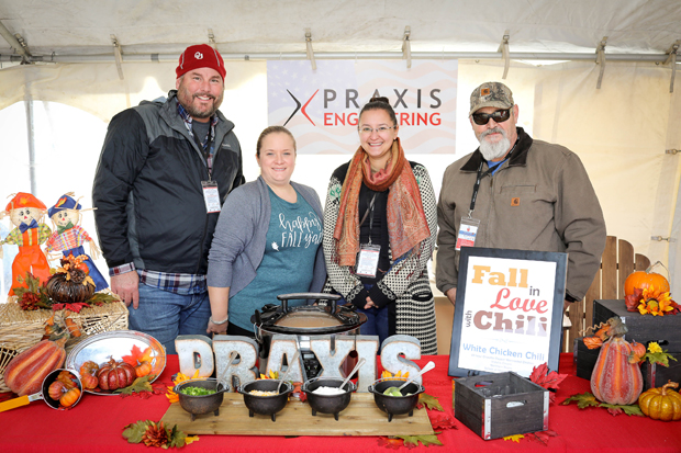 Praxis Engineering put their best pot of chili forward in support of The Baltimore Station at the fourth annual Stars, Stripes & Chow chili cookoff. (Photo courtesy of The Baltimore Station)