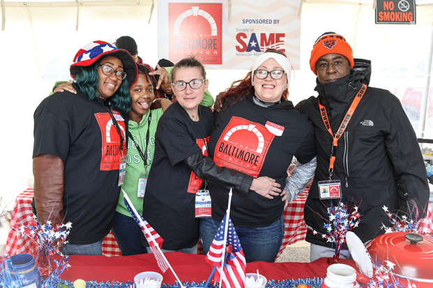 "The Baltimore Station's team remained the crowd favorite and took home the ""People's Choice"" award for the third year in a row at the fourth annual Stars, Stripes & Chow chili cookoff. (Photo courtesy of The Baltimore Station)"