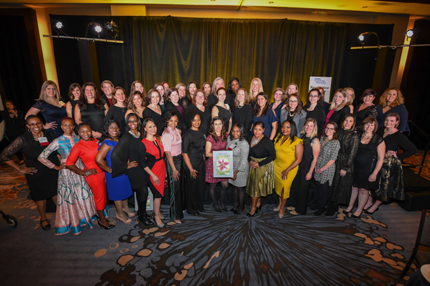 The 2018 Leading Women gather for a group photo following the award ceremony at The Westin Annapolis. (Photo by Maximilian Franz)