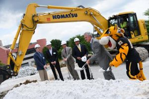Photo taken at the groundbreaking ceremony for the Towson Row project. Photo by Maximilian Franz