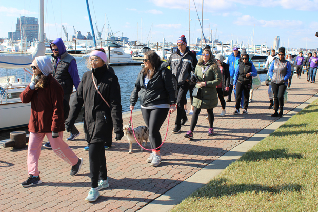 The nearly 2,000 participants got a waterside view of Canton Waterfront Park as they wind their way around the 3-mile route during The Greater Baltimore Walk to End Alzheimer's. (Photo by Renee Johnson)