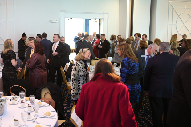 Approximately 230 guests filled a ballroom for the annual State of the County luncheon at Water's Edge Events Center in Belcamp. (Photo by Kate Rodriguez)
