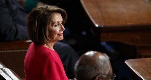 House Democratic Leader Nancy Pelosi of California, who is expected to lead the 116th Congress as speaker of the House, is seated on the House floor at the Capitol in Washington, Thursday, Jan. 3, 2019.  (AP Photo/Carolyn Kaster)
