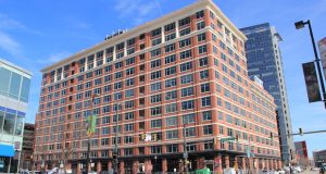 American Real Estate Partners said the firm completed $15 million in renovations to the Candler Building along Pratt Street in downtown Baltimore. (The Daily Record/Adam Bednar)