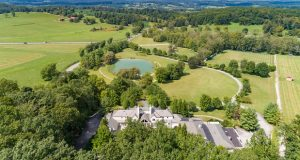 The estate of former Oriole stars Adam Jones and Cal Ripken, Jr. is seen via drone. Jones recently listed the property, which he bought from Ripken less than a year ago, for just under $4 million. (Courtesy Hubble Bisbee Group)