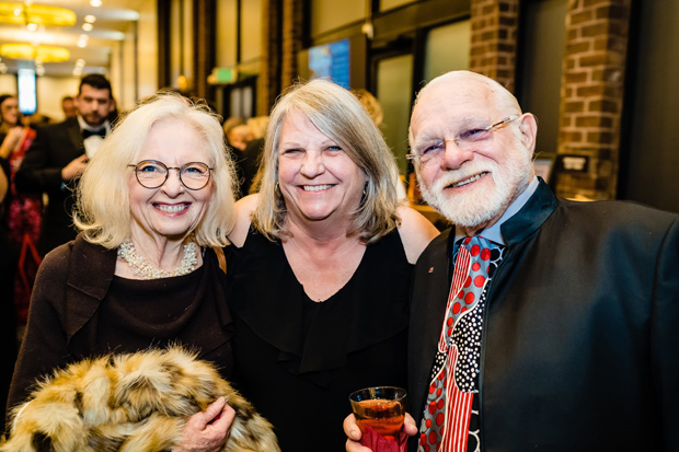 From left, Ceal Hays, Claudia Summerson and RT Klamm take time for a photo during the gala. (Photo by SMJ Photography)
