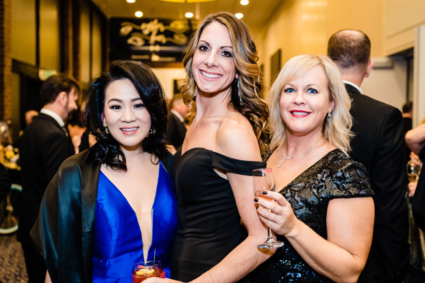 From left, Diana Lee, Allison Braglio and Lindsay Moore pose for a photo at the gala. (Photo by SMJ Photography)
