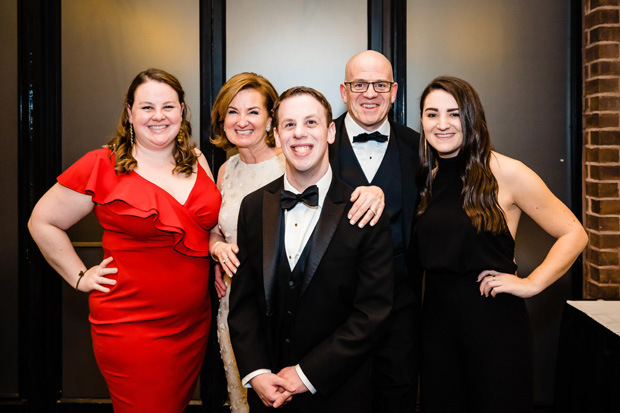 Members of the Gallo family take time for a photo during Penn-Mar Human Services' 27th annual Black Tie Gala. Pictured, from left, are Emily Gallo, Wendy Gallo, Mike Gallo, Anthony Gallo and Natalie Gallo. Wendy Gallo was chair of the annual fundraising event. (Photo by SMJ Photography)