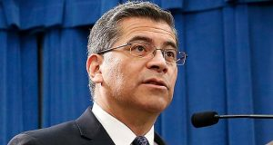 FILE - In this Feb. 15, 2019 file photo, California Attorney General Xavier Becerra speaks at a news conference in Sacramento, Calif. Becerra and other Democratic lawmakers are seeking to overturn new obstacles the Trump administration set up for women seeking abortions, including barring taxpayer-funded family planning clinics from making abortion referrals. Becerra announced Monday, March 4, 2019 that the Democratic-led state will file a federal lawsuit seeking to block the Health and Human Services Department's new family plan rule. (AP Photo/Rich Pedroncelli, File)