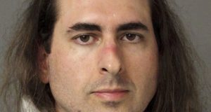 Jarrod Ramos is accused of  killing five people at the Annapolis Capital Gazette newspaper.  (Anne Arundel Police via AP, File)
