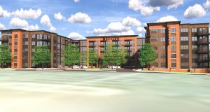 AvalonBay Communities Inc. will build the first, residential building at the mixed-use Foundry Row project in Owings Mills. Avalon Foundry Row will feature 437 apartments with amenities including co-working space, dog parks and swimming pool. (Renderings Courtesy Greenberg Gibbons)