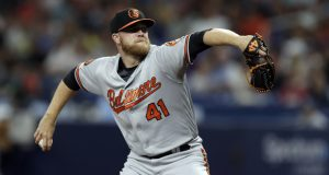 Baltimore Orioles relief pitcher David Hess during the first inning of a baseball game Wednesday, April 17, 2019, in St. Petersburg, Fla. (AP Photo/Chris O'Meara)