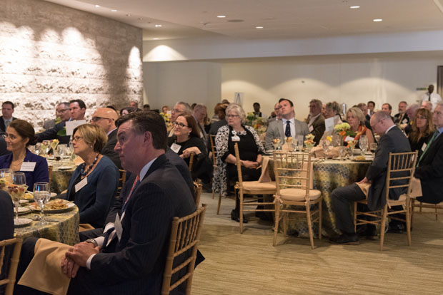 The Mary Catherine Bunting Center played host to 75 guests at Mercy Medical Center's Corporate Partners Recognition Breakfast March 27. (Photo by Jennifer McMenamin)