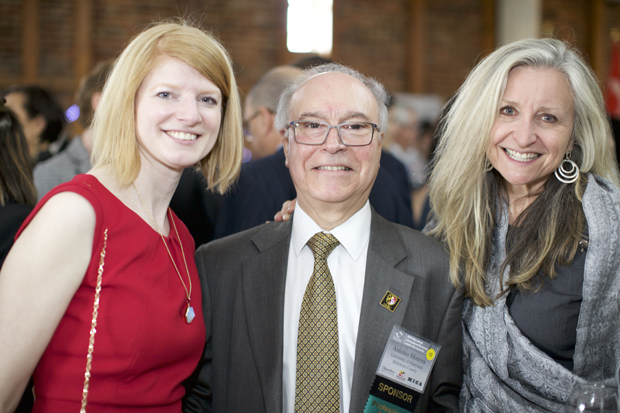 From left, Jessica Reynolds, regional manager with the Maryland Department of Commerce; Antonio Moreira, vice provost of the University of Maryland, Baltimore County; and Betsy O'Neill Collie, principal/owner of SpringWood Ventures LLC, attended the awards celebration. (Photo courtesy of the World Trade Center Institute)