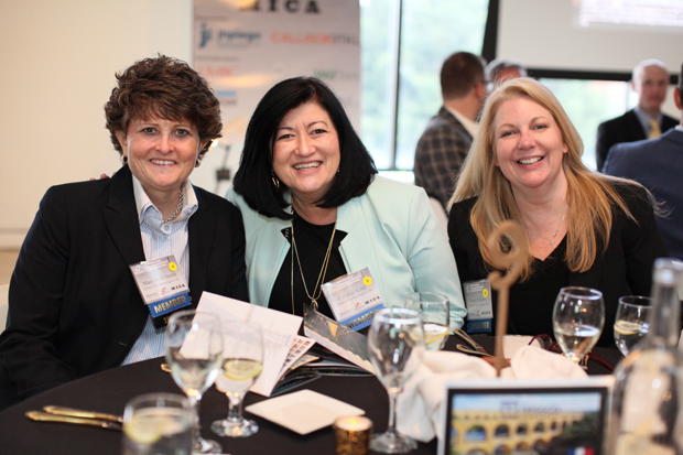 From left, Vice President of Sales Mary Beth Smith, Treasurer and Vice President Cynthia King and Vice President Tammy Ridgley represented TESSCO Technologies at the 23rd Maryland International Business Leadership Awards. (Photo courtesy of the World Trade Center Institute)