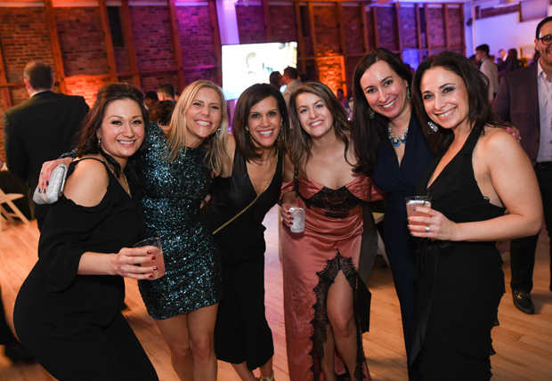 From left, Elisabeth Baumwald, Wendy Turner, Andrea Tedrow, Kelsey Bane, Jenny Schaefer, and Allison Baumwald attended the Casey Cares Foundation's Studio 54 Gala. (Photo by Mike Buscher)