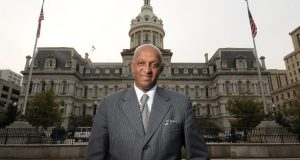 10.18.10 BALTIMORE, MD. Jack Young, City Council President for Baltimore City. Portrait outside of City hall. (Maximilian Franz/ The Daily Record)