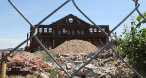 The construction site at the  Hendler Creamery redevelopment project in east Baltimore. (Adam Bednar)