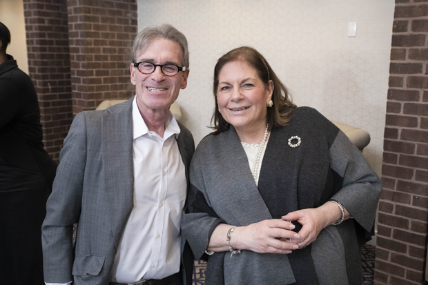 Howard Kurman, co-founder of Offit Kurman Attorneys at Law, gets a photo with Lisa Benson, president and CEO of Mary Kraft Staffing and HR Solutions. (Photo by John Coyle)