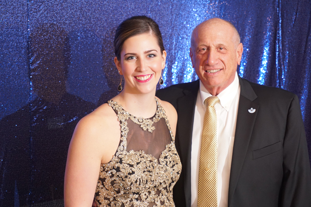 Harford County Council President Patrick Vincenti gets a photo with his legislative aide, Samantha Harris, during the 15th annual After d'Arc Gala. (Photo by The Arc Northern Chesapeake Region)